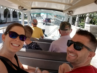 Golf cart tour through St. Augustine